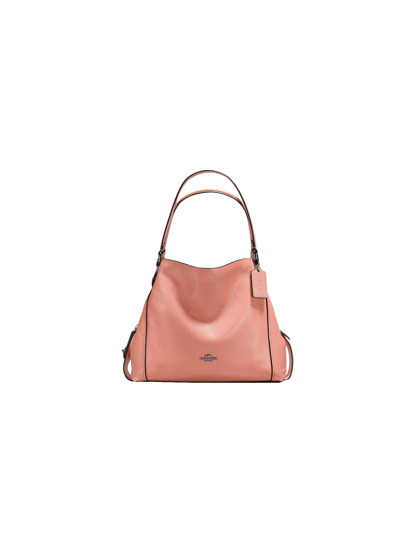 Coach Edie 31 Polished Pebble Leather Shoulder Bag at John Lewis ... a0377a2bb2e6f