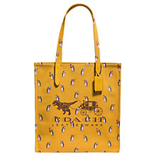 Buy Coach 1941 Canvas North/South Rexy & Carriage Tote Bag, Yellow Online at johnlewis.com
