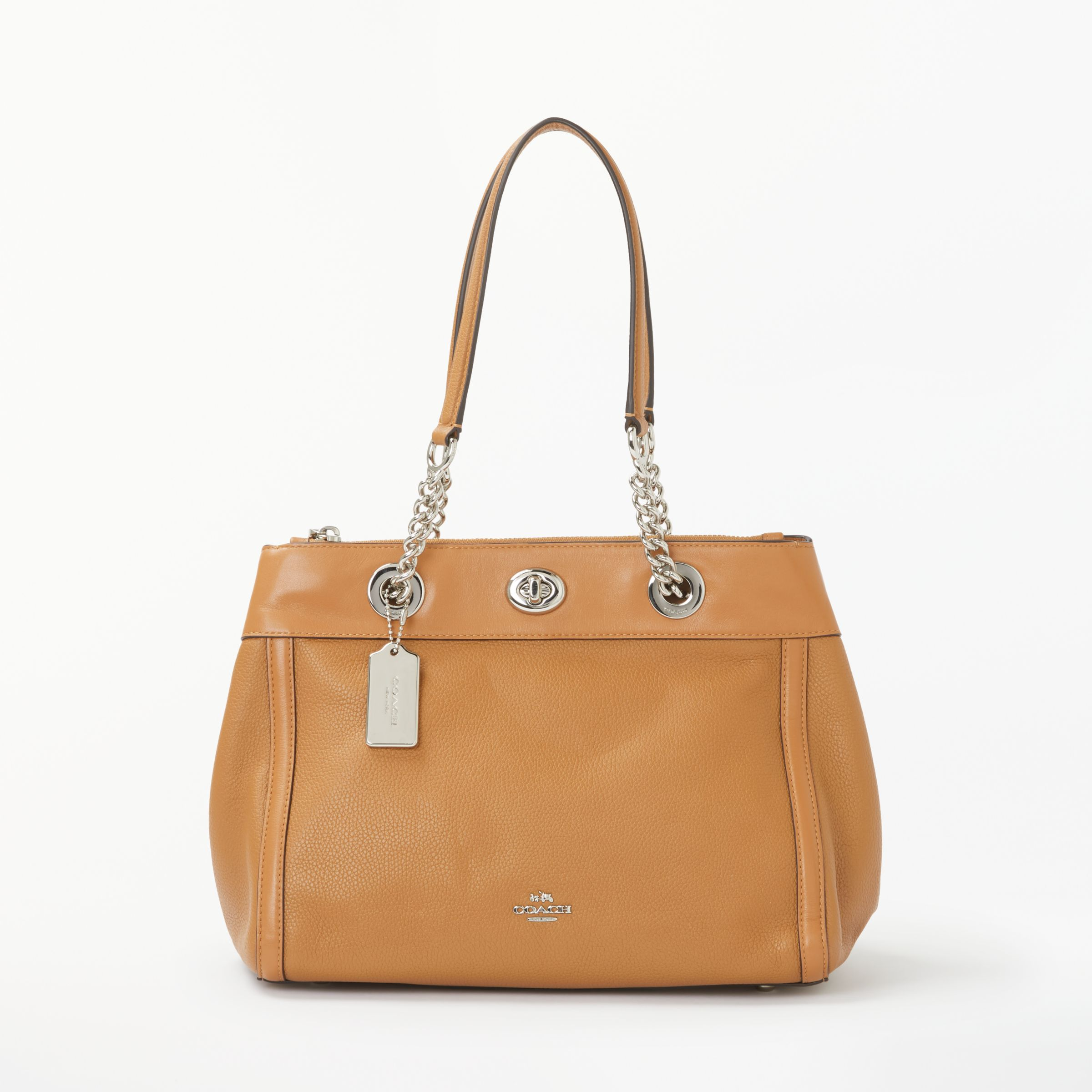Coach Turnlock Edie Leather Carryall Shoulder Bag at John Lewis   Partners 2417f58f9f34e