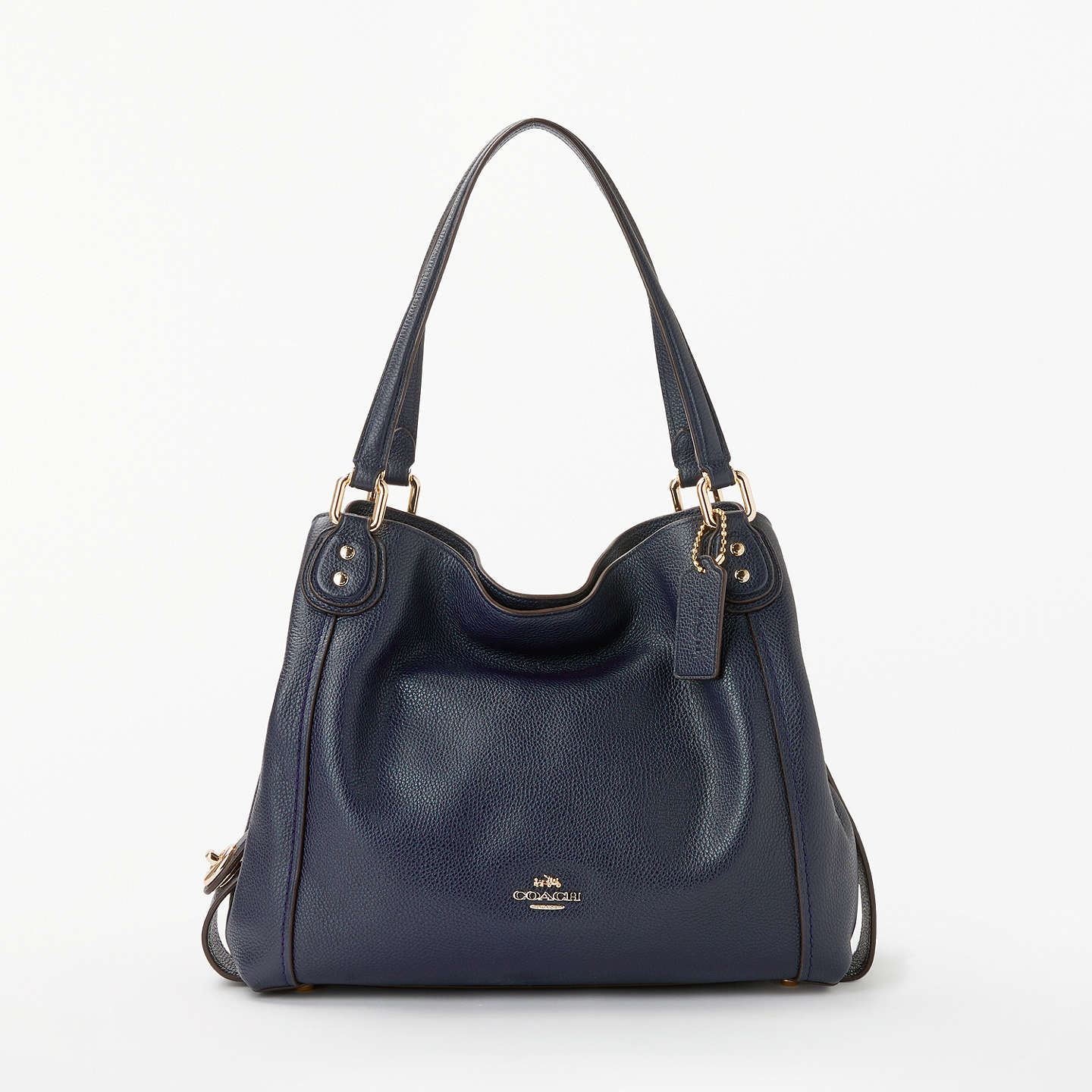 Coach Edie 28 Leather Shoulder Bag, Navy by Coach