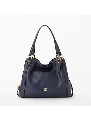 3d71be2f847da ... reduced coach edie 28 leather shoulder bag 721ca 7e34d