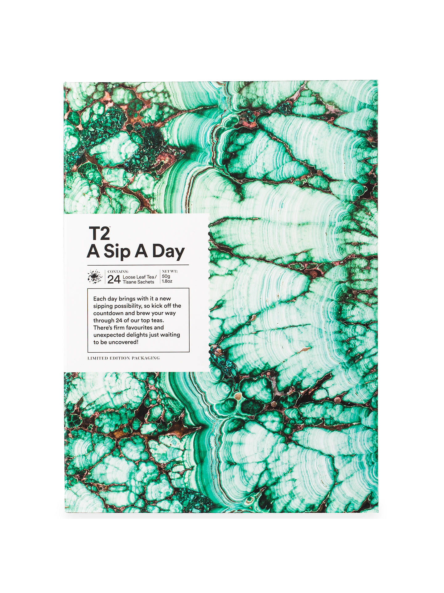 T2 Sip a Day Advent Gift Set, 50g at John Lewis & Partners