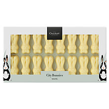 Buy Hotel Chocolat City Bunnies, White, 87g Online at johnlewis.com