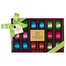 Buy Godiva 18 Foiled Easter Egg Box, 180g Online at johnlewis.com