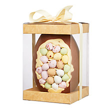 Buy Cocoa Bean Co Mini Egg Inclusion Easter Egg, 350g Online at johnlewis.com