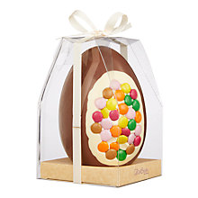Buy Cocoa Bean Co Smartie Inclusion Easter Egg, 350g Online at johnlewis.com