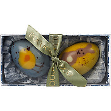 Buy Rococo Chocolates 2 Hand Painted Easter Eggs, 100g Online at johnlewis.com