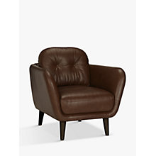 Buy House by John Lewis Arlo Leather Armchair, Dark Leg Online at johnlewis.com