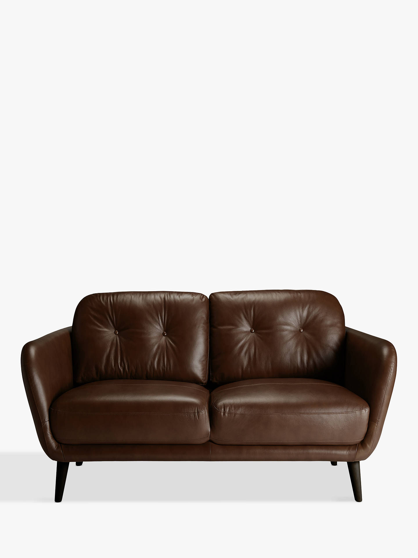 BuyHouse by John Lewis Arlo Small 2 Seater Leather Sofa, Dark Leg, Milan Chestnut Online at johnlewis.com