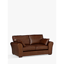 Buy John Lewis Leon Leather Medium 2 Seater Sofa, Dark Leg Online at johnlewis.com