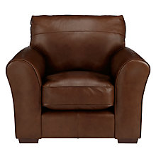 Buy John Lewis Leon Leather Armchair, Dark Leg, Milan Chestnut Online at johnlewis.com