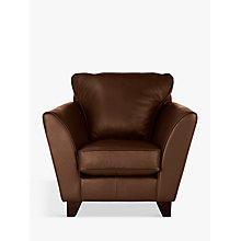 Buy John Lewis Oslo Leather Armchair, Dark Leg Online at johnlewis.com
