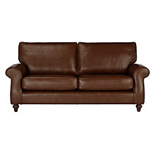 Buy John Lewis Hannah Leather Grand 4 Seater Sofa, Dark Leg Online at johnlewis.com