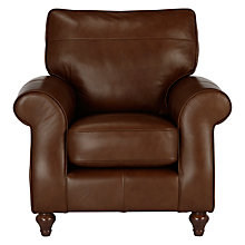 Buy John Lewis Hannah Leather Armchair, Dark Leg Online at johnlewis.com