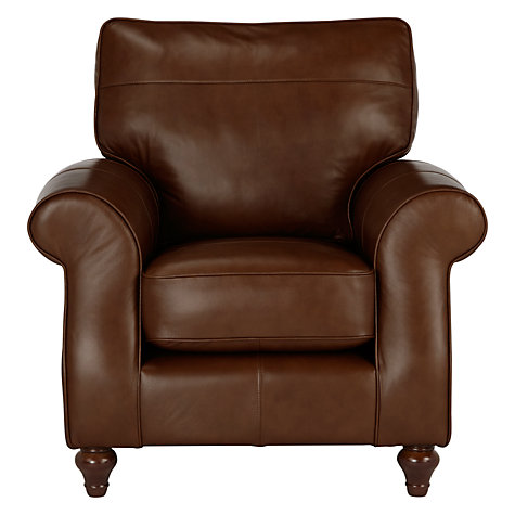 buy john lewis hannah leather armchair dark leg online at