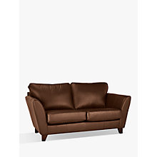 Buy John Lewis Oslo Leather Small 2 Seater Sofa, Dark Leg Online at johnlewis.com