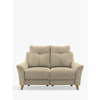 G Plan Hirst Power Recliner Small 2 Seater Sofa, Reed Taupe