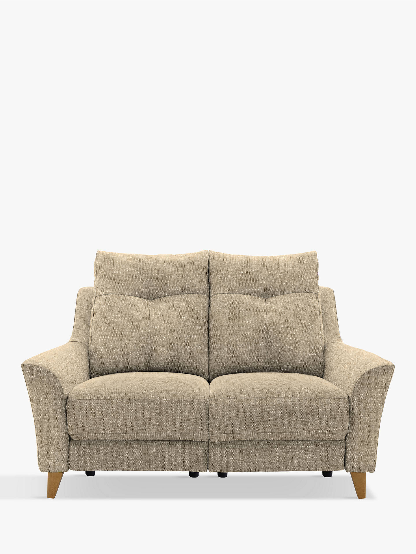 G Plan Hirst Recliner Small 2 Seater Sofa Reed Taupe Online At Johnlewis