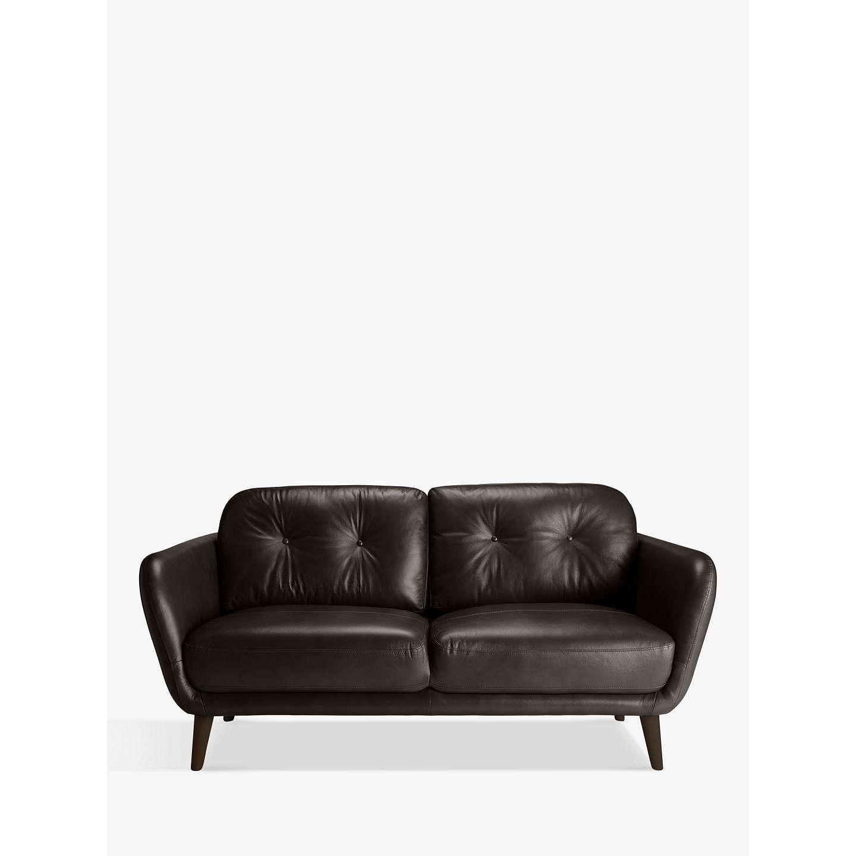 ... BuyHouse By John Lewis Arlo Medium 2 Seater Leather Sofa, Milan Taupe  Online At Johnlewis ...