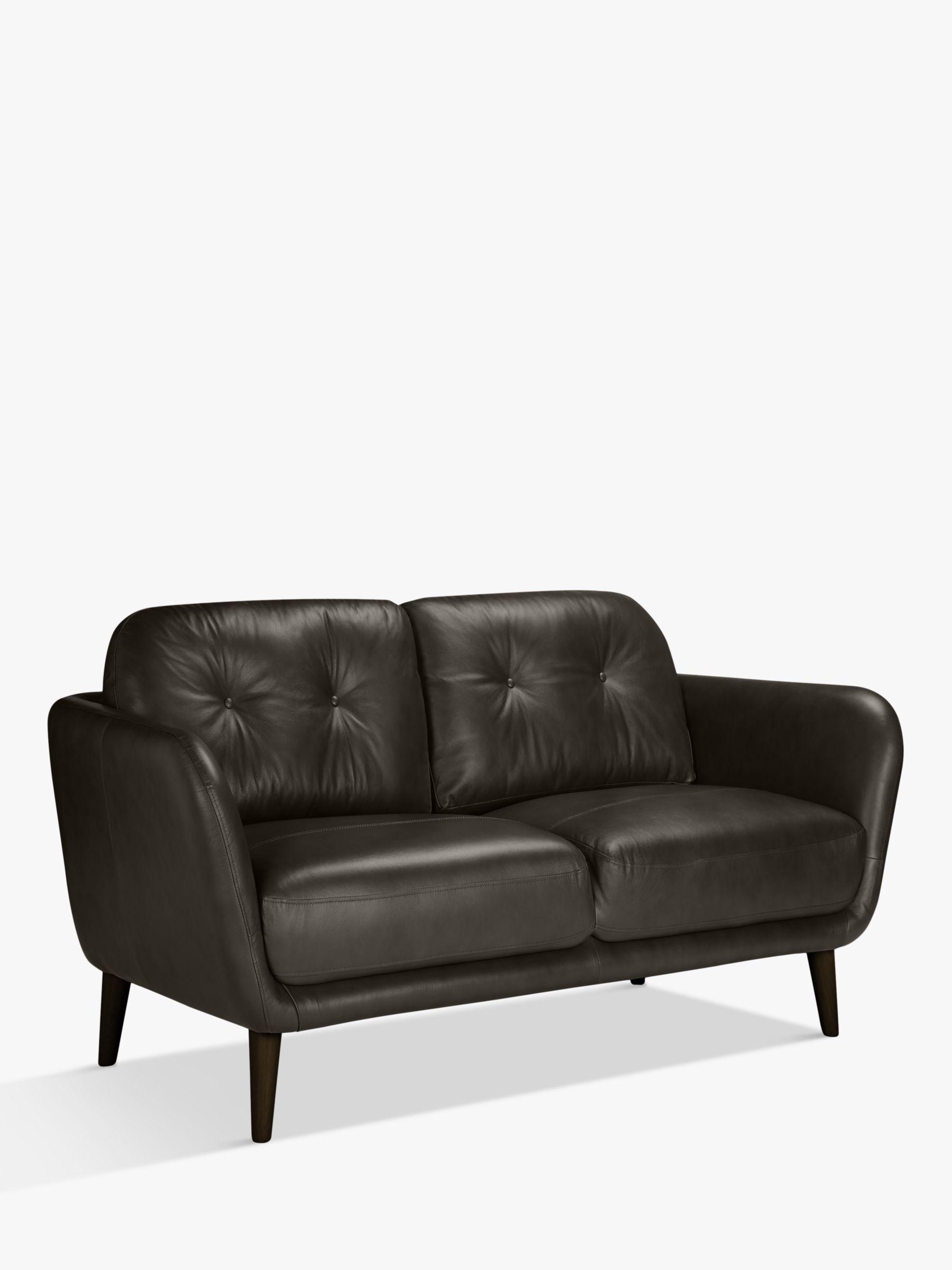 2 Seater Leather Sofa Milan Taupe