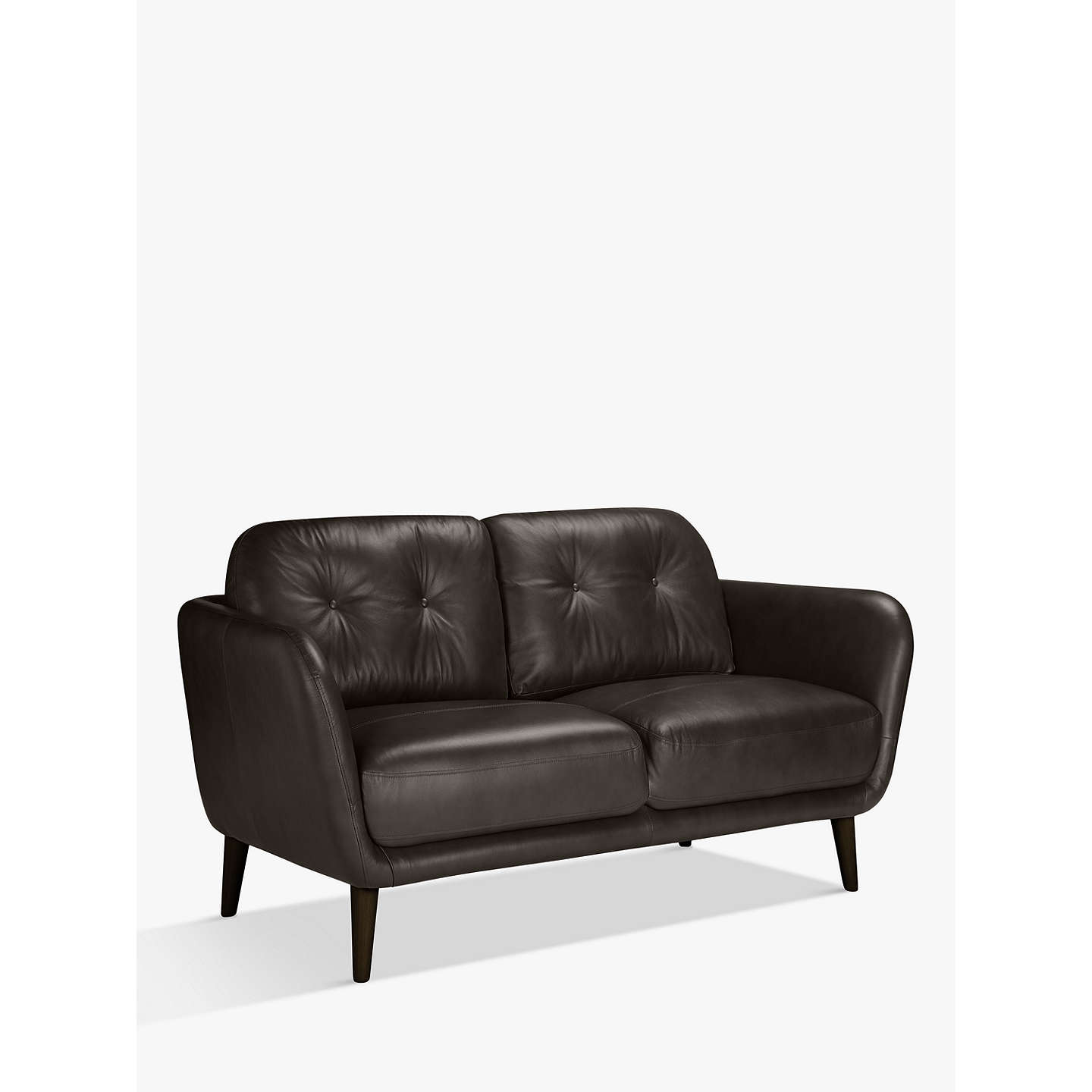 Buyhouse By John Lewis Arlo Small 2 Seater Leather Sofa,