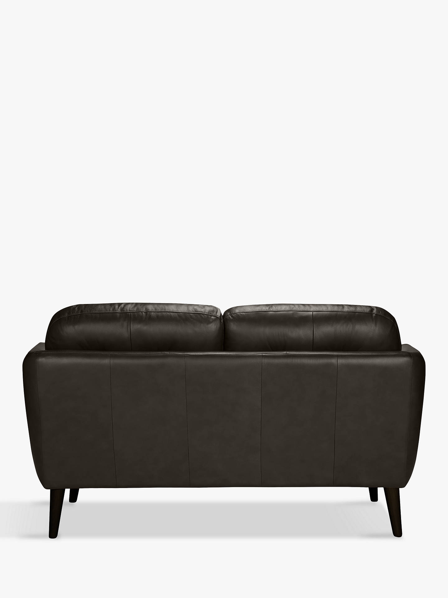 BuyHouse by John Lewis Arlo Small 2 Seater Leather Sofa, Milan Taupe, Light Leg Online at johnlewis.com