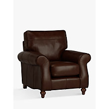 Buy John Lewis Hannah Leather Armchair, Dark Leg, Milan Dark Brown Online at johnlewis.com