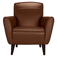 Buy John Lewis Albie Leather Armchair, Dark Leg Online at johnlewis.com