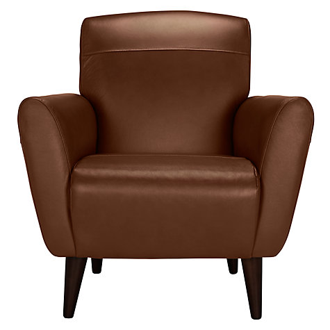 buy john lewis albie leather armchair dark leg online at