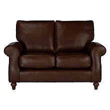 Buy John Lewis Hannah Leather Small 2 Seater Sofa, Dark Leg, Milan Dark Brown Online at johnlewis.com