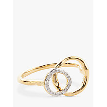 Buy Modern Rarity Diamond Linked Hoop Ring, Gold Online at johnlewis.com