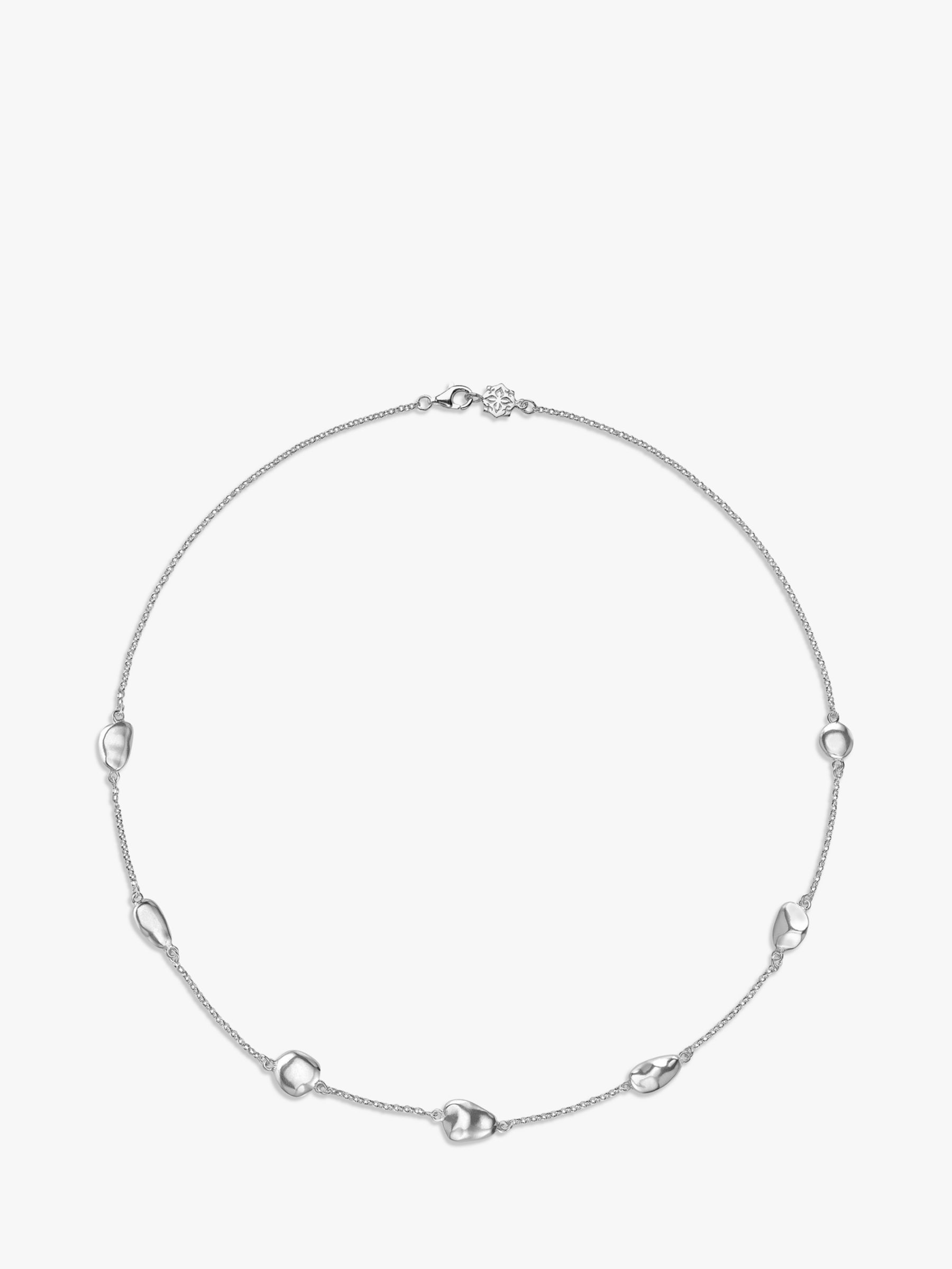 Dower & Hall Dower & Hall Sterling Silver Pebble Chain Necklace, Silver