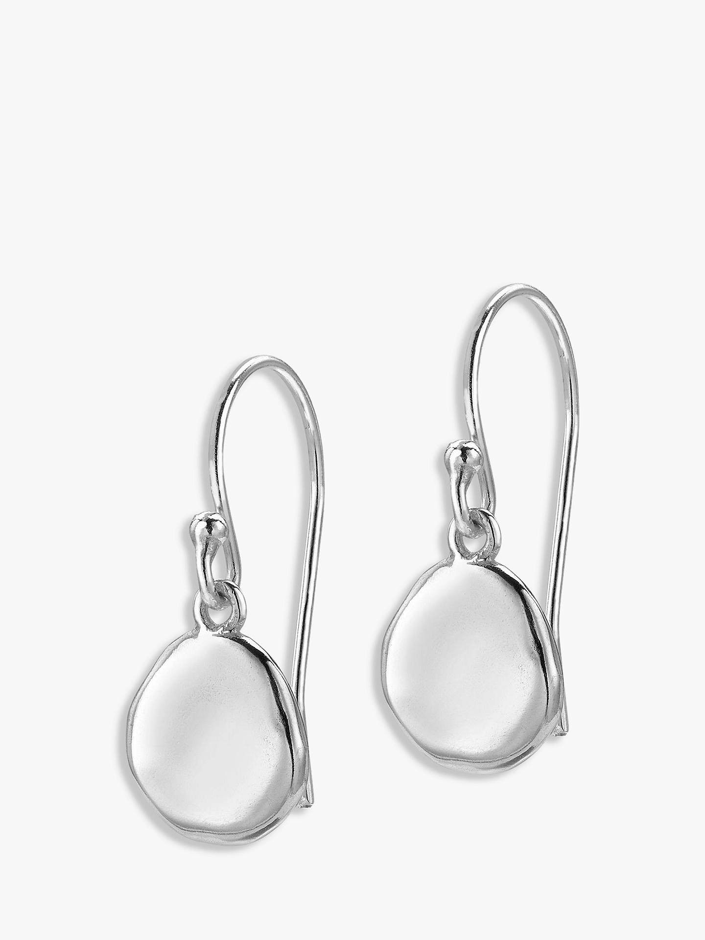 BuyDower & Hall Pebble Drop Earrings, Silver Online at johnlewis.com