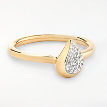 Buy Modern Rarity Diamond Teardrop Ring, Gold Online at johnlewis.com