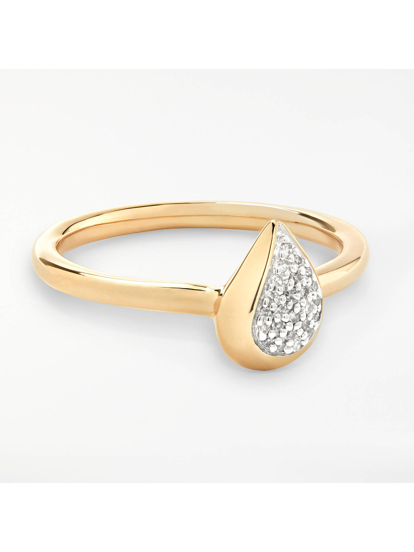 BuyModern Rarity Diamond Teardrop Ring, Gold, L Online at johnlewis.com
