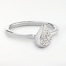 Buy Modern Rarity Diamond Teardrop Ring, Silver Online at johnlewis.com