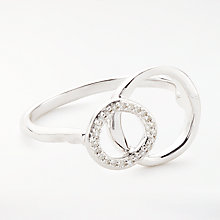Buy Modern Rarity Diamond Linked Hoop Ring, Silver Online at johnlewis.com