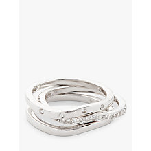 Buy Modern Rarity White Topaz Stacking Ring, Silver Online at johnlewis.com