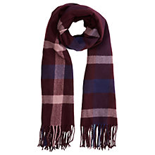 Buy Warehouse Check Scarf, Berry Online at johnlewis.com
