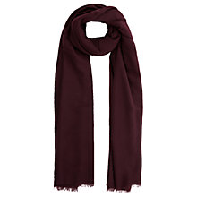 Buy Warehouse Large Wrap Scarf, Berry Online at johnlewis.com