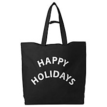 Buy Whistles Happy Holidays Canvas Tote, Black Online at johnlewis.com