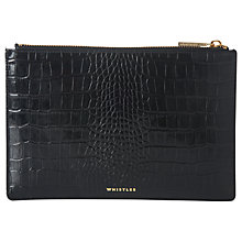 Buy Whistles Shiny Croc Leather Small Clutch Bag Online at johnlewis.com