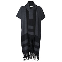 Buy L.K. Bennett Apple Scarf Poncho, Grey Melange Online at johnlewis.com