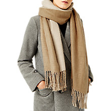 Buy Warehouse Reversible Scarf, Camel Online at johnlewis.com