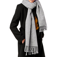 Buy Warehouse Soft Plain Scarf, Light Grey Online at johnlewis.com