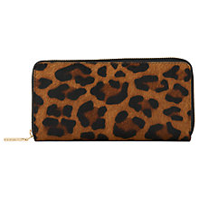 Buy Whistles Leopard Print Large Wallet, Multi Online at johnlewis.com