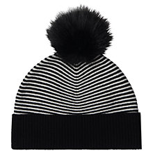 Buy L.K. Bennett Tone Merino Hat, Black/White Online at johnlewis.com