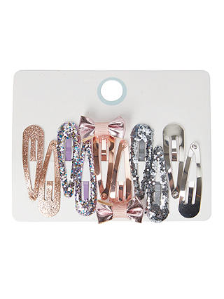 Buy John Lewis & Partners Girls' Sparkly Hair Clips, Pack of 10, Multi Online at johnlewis.com