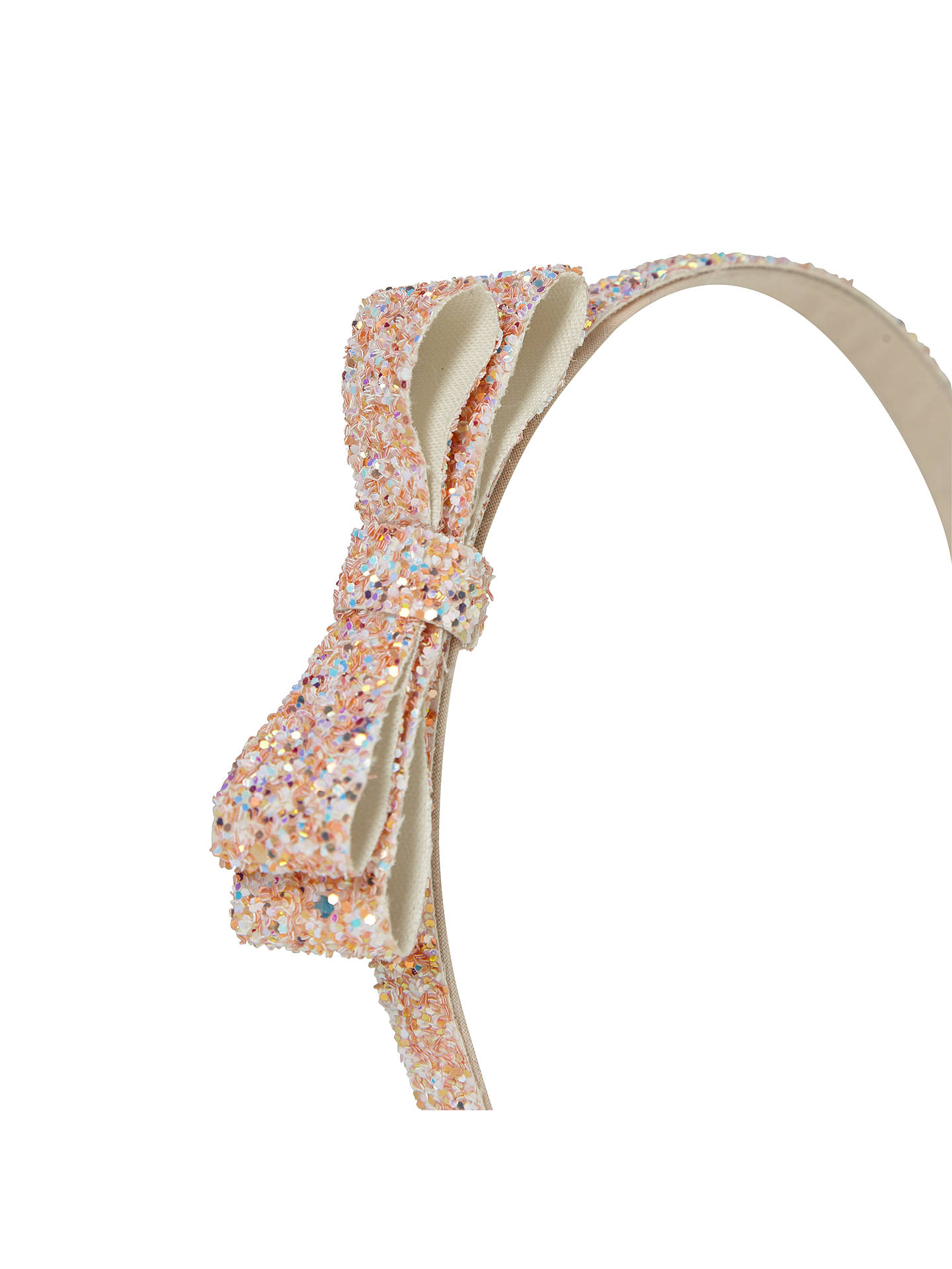 BuyJohn Lewis & Partners Girls' Glitter Bow Alice Band, Pink Online at johnlewis.com