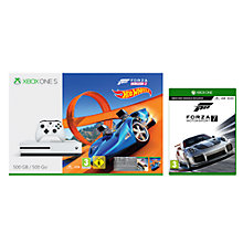 Buy Microsoft Xbox One S Console, 500GB, with Wireless Controller and Forza Horizon 3 Hot Wheels and Forza Motorsport 7 Online at johnlewis.com